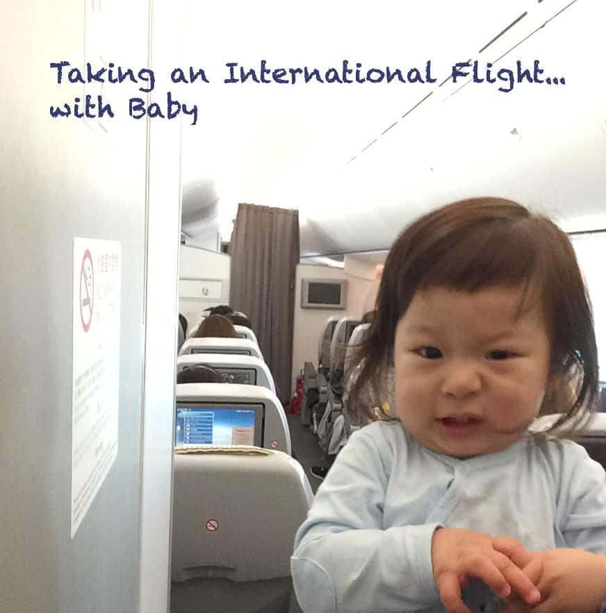 taking an international flight to asia with baby
