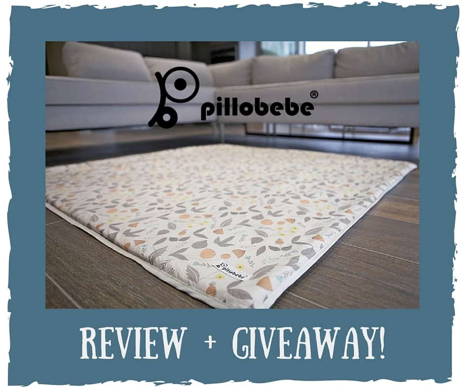 Pillobebe Organic Cotton Play Mat Review + Giveaway