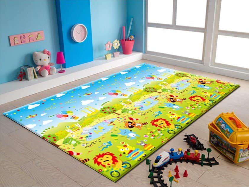 Best non toxic play mats for baby updated 2017 mommy for Mats for kids room