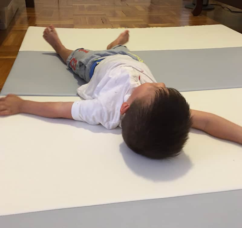 Non-Toxic Foam Play Mat Cream Haus Review - toddler approved