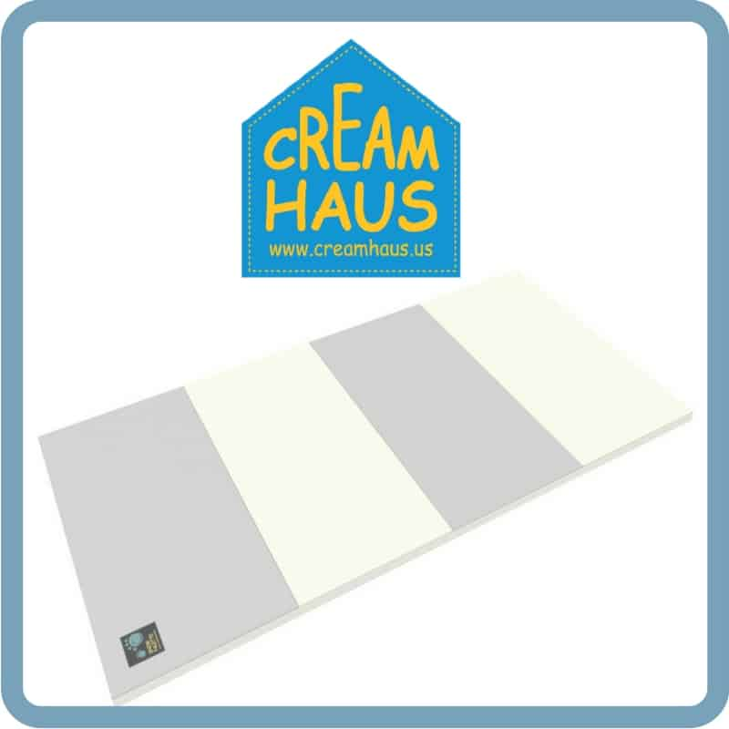 Gym Mats Non Toxic: Best Non-Toxic Foam Play Mat: Cream Haus Folding Play Mat